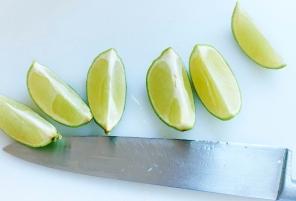 Chopped lemons
