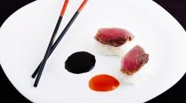 Sushi tuna with rice